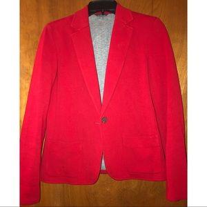 LL Bean - Red cotton blazer